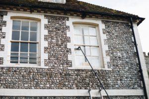 Window cleaning in Falmer near Brighton.