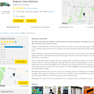 Yell Reviews Brighton Clean Machine